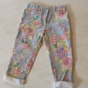 Candy Stripes size 3 floral jeans